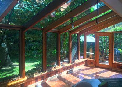 Cedar Sunroom Interior