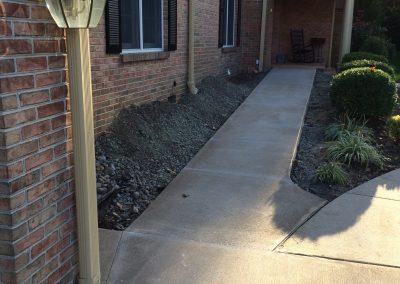 Heated Sidewalk Installation