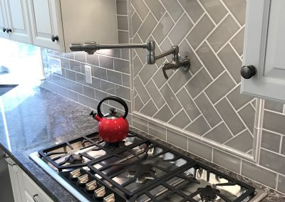 Kitchen Stove Top with Pot Filler