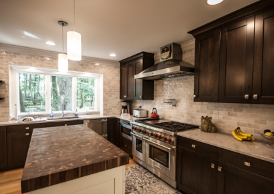 Kitchen with Black Walnut End Grain Butcher Block